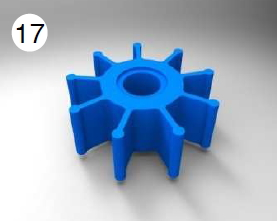 Speed Related Flood Water Pump Impeller